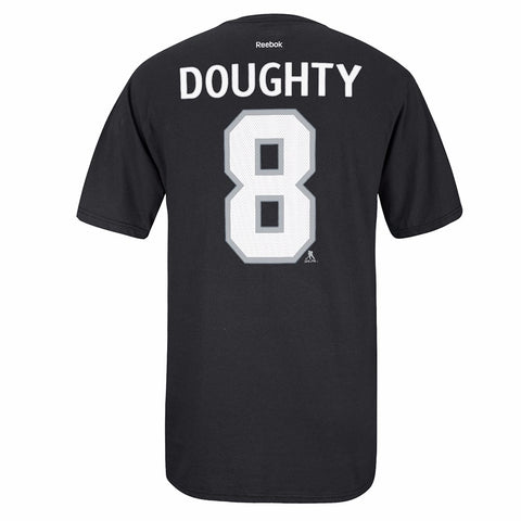 Drew Doughty Reebok Los Angeles Kings Player Premier Black Jersey T-Shirt Men's