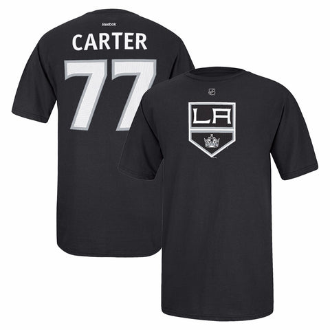 Jeff Carter Reebok Los Angeles Kings Player Premier Black Jersey T-Shirt Men's