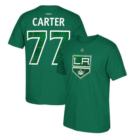 Jeff Carter Reebok Los Angeles Kings St. Patricks Day Tartan Jersey T-Shirt