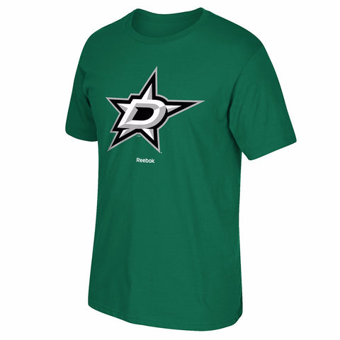 Dallas Stars Reebok 'Jersey Crest' Primary Team Logo Green T-Shirt Men's