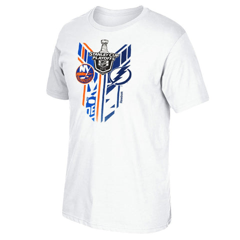 New York Islanders vs Tampa Bay Lightning Reebok 2016 Stanley Cup T-Shirt Men's