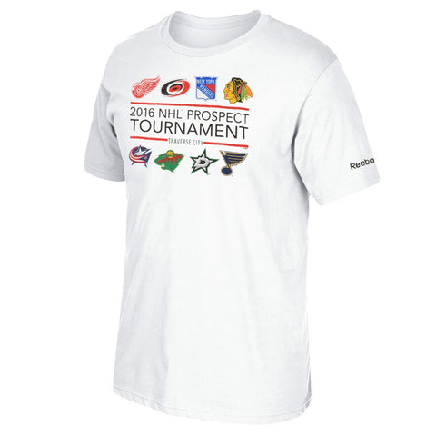 2016 NHL Prospect Tournament Reebok Official Logo White T-Shirt Men's