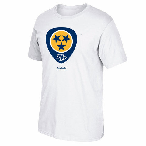 Nashville Predators NHL Reebok Jersey Crest Team Primary Logo T-Shirt Men's