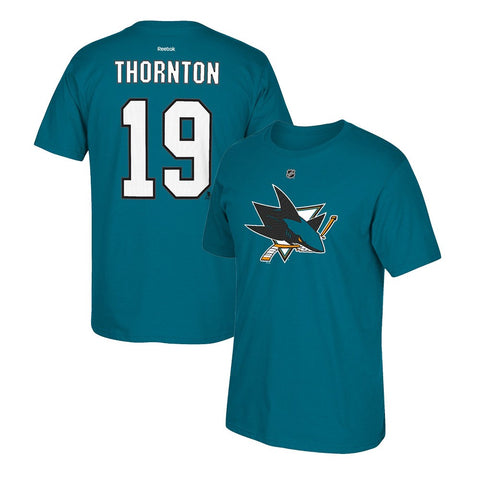 Joe Thornton Reebok San Jose Sharks Premier N&N Teal Jersey T-Shirt Men's