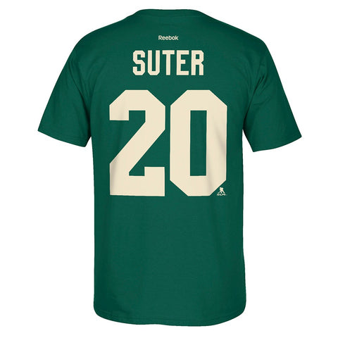 Ryan Suter Reebok Minnesota Wild Player Premier N&N Green Jersey T-Shirt Men's
