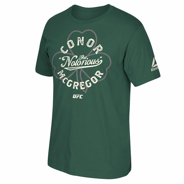 "Conor McGregor Reebok UFC Men's Green UFC 196 ""Irish Pride"" T-Shirt BU4567"