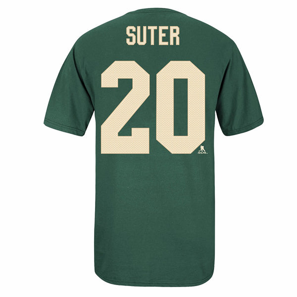 Ryan Suter Minnesota Wild NHL Reebok Men's Green Name & Number Jersey T-Shirt
