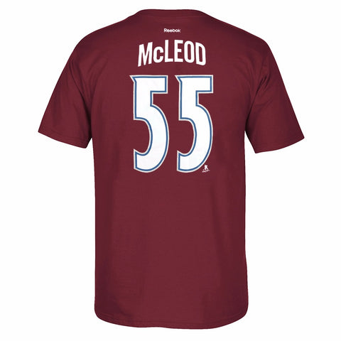 Cody McLeod Colorado Avalanche NHL Reebok Maroon Name & Number Jersey T-Shirt