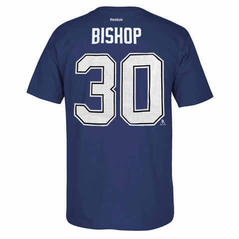 Ben Bishop Reebok Tampa Bay Lightning Premier N&N Blue Jersey T-Shirt Men's