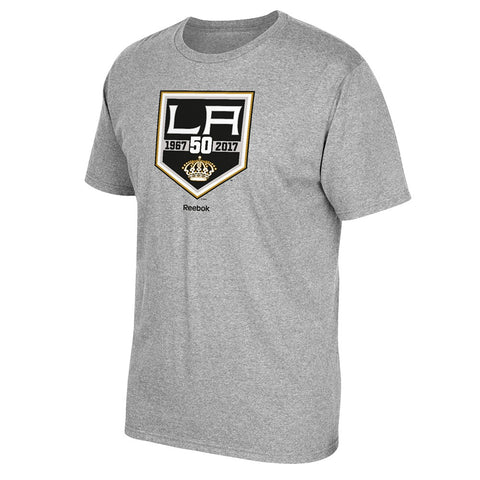 2016-2017 Los Angeles Kings Reebok 50th Anniversary Logo T-Shirt Men's