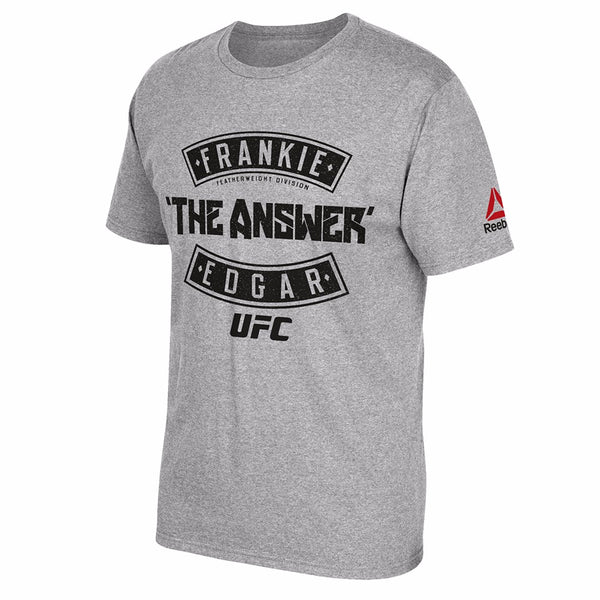 "Frankie Edgar UFC Reebok Men's Grey ""The Answer"" Graphic Print T-Shirt"