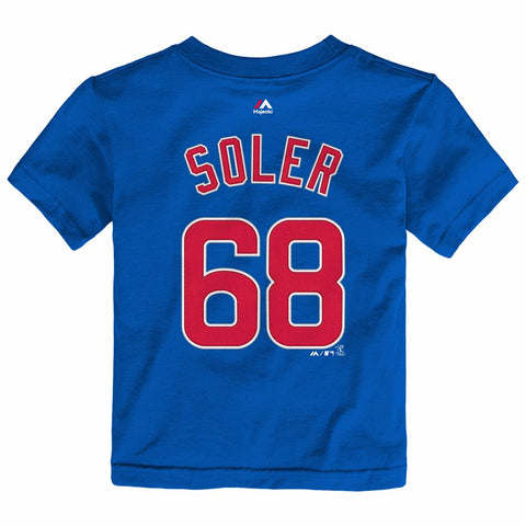 Jorge Soler Chicago Cubs MLB Majestic Toddler's Blue Faux Stitch Jersey T-Shirt