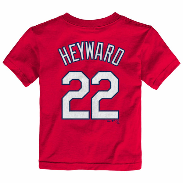 Jason Heyward St Louis Cardinals MLB Majestic Toddler Red Faux Stitch T-Shirt