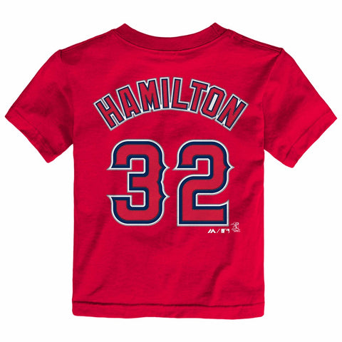 Josh Hamilton Los Angeles Angels MLB Majestic Toddler Red Faux Stitch T-Shirt