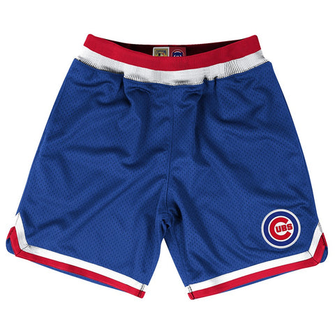 Chicago Cubs MLB Mitchell & Ness Authentic Playoff Win Throwback Shorts Men's
