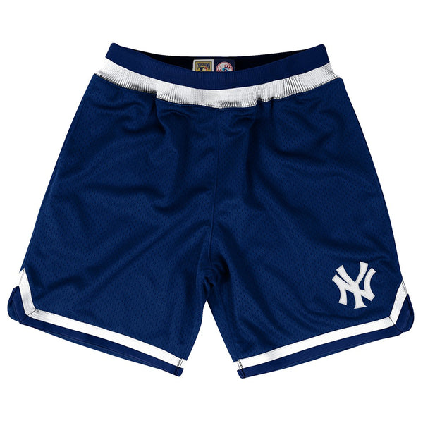 New York Yankees MLB Mitchell & Ness Navy Authentic Playoff Win Throwback Shorts