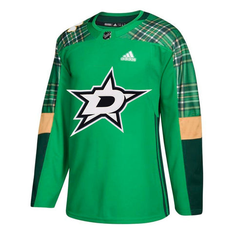 Dallas Stars NHL Adidas Men's Green St. Patrick's Day Authentic Practice Jersey