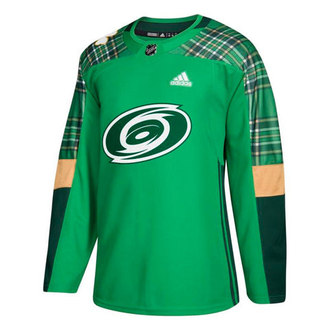 Carolina Hurricanes NHL Adidas Green St. Patrick's Day Authentic Practice Jersey