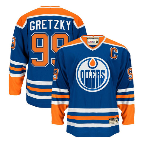 Wayne Gretzky CCM Edmonton Oilers Heroes of Hockey Authentic Throwback Jersey