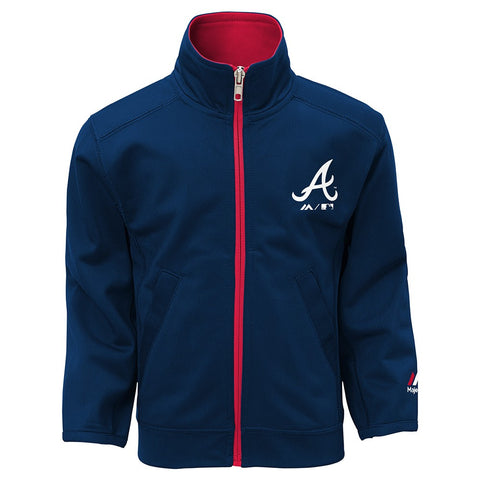 "Atlanta Braves MLB ""Home Plate"" Full Zip Jacket & Pants Set Toddler (2T-4T)"