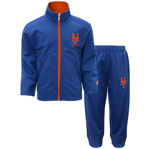 "New York Mets MLB ""Home Plate"" Full Zip Track Jacket & Pants Set Toddler (2T-4T)"