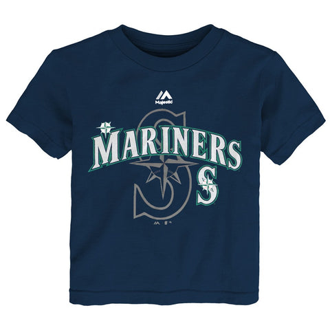 "Seattle Mariners Majestic MLB Toddler Navy Blue ""Real Gem"" Graphic T-Shirt"