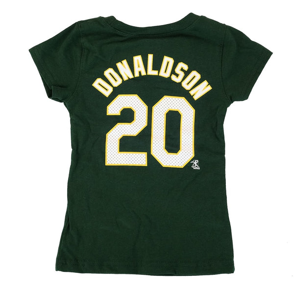 Josh Donaldson MLB Oakland Athletics Player Jersey T-Shirt Toddler Girls (2T-4T)