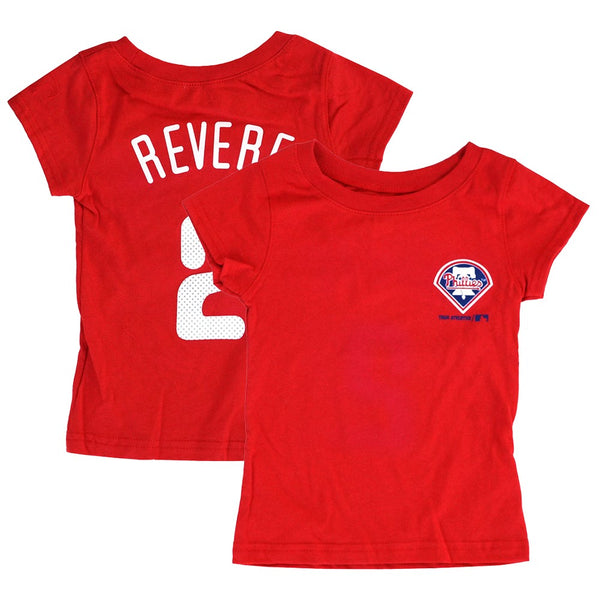 Ben Revere MLB Philadelphia Phillies Player Jersey T-Shirt Toddler Girls (2T-4T)