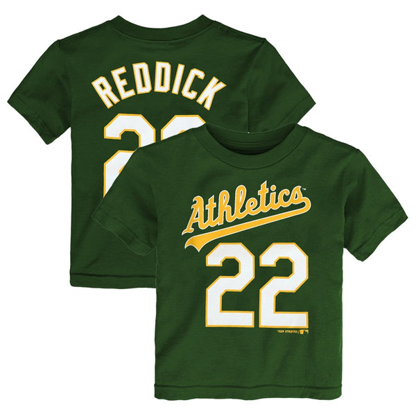 Josh Reddick MLB Oakland Athletics Green Jersey T-Shirt Infant Toddler (12M-4T)
