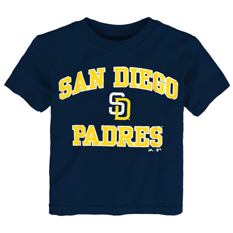 "San Diego Padres Majestic MLB Toddler Navy Blue ""Heart and Soul"" T-Shirt"