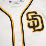 San Diego Padres MLB Majestic Toddler's White Home Cool Base Jersey