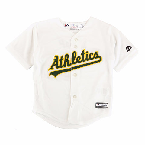 Coco Crisp Oakland Athletics MLB YOUTH White Home Cool Base Replica Jersey