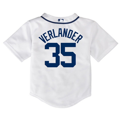 Justin Verlander MLB Majestic Detroit Tigers Cool Base Home Jersey Toddler 2T-4T
