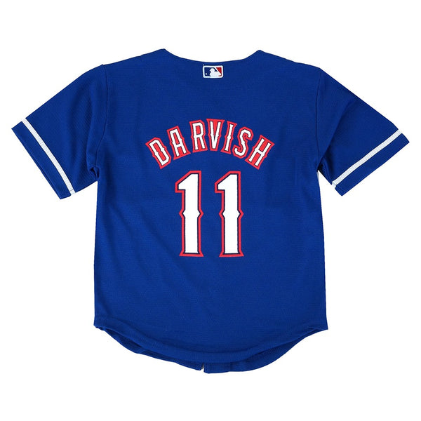 Yu Darvish MLB Majestic Texas Rangers Cool Base Road Blue Jersey Toddler (2T-4T)
