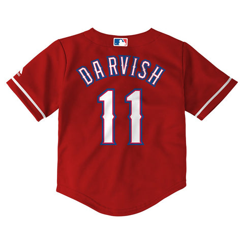 Yu Darvish MLB Majestic Texas Rangers Alt Red Cool Base Jersey Toddler (2T-4T)