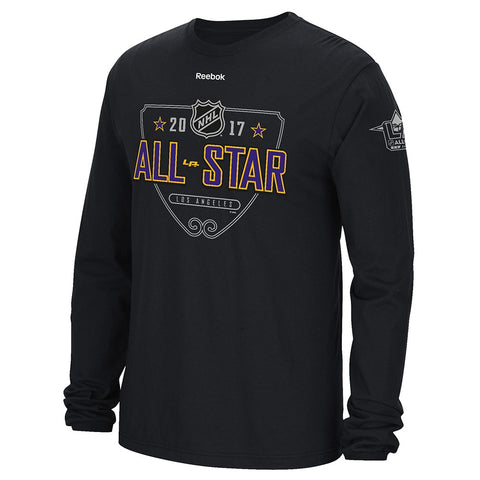 "2017 NHL All Star Game Los Angeles Reebok ""All Star SIgnage"" Long Sleeve T-Shirt"