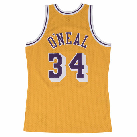 Shaquille O'Neal Los Angeles Lakers NBA M&N Gold 1996-97 HC Swingman Jersey