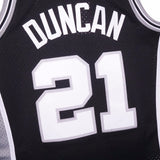 Tim Duncan San Antonio Spurs NBA M&N Black 1998-99 Swingman Throwback Jersey