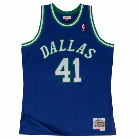Dirk Nowitzki Dallas Mavericks NBA M&N Blue 1998-99 Swingman Throwback Jersey