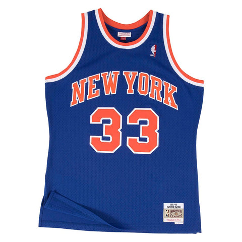Patrick Ewing New York Knicks NBA M&N Blue 1991-92 Swingman Throwback Jersey