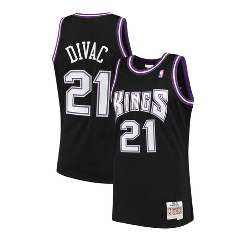 Vlade Divac Sacramenton Kings NBA M&N Black 2000-01 HC Swingman Jersey