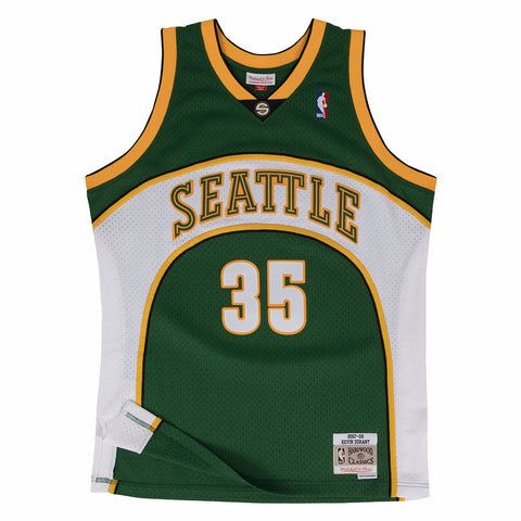 Kevin Durant Seattle SuperSonics NBA M&N Green 2007-08 Swingman Throwback Jersey