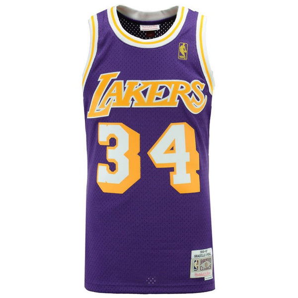 Shaquille O'Neal Los Angeles Lakers NBA M&N Purple 1996-97 HC Swingman Jersey