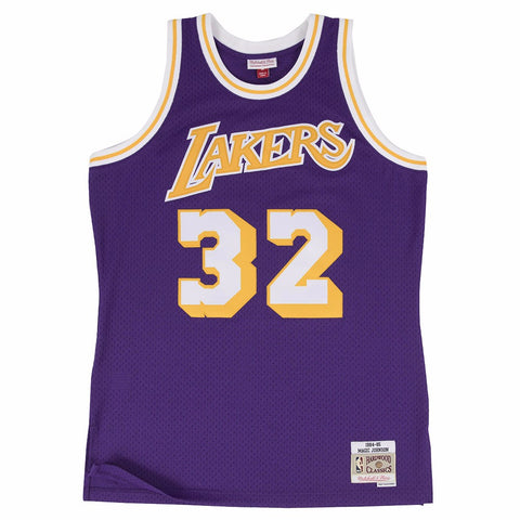 Magic Johnson Los Angeles Lakers NBA M&N Purple 1984-85 Swingman Jersey