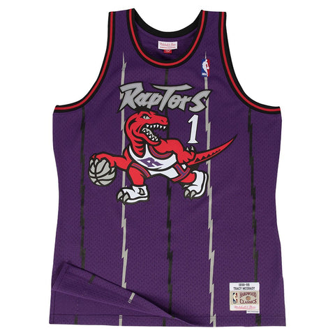 Tracy McGrady Tronto Raptors NBA M&N Purple 1998-99 Swingman Throwback Jersey