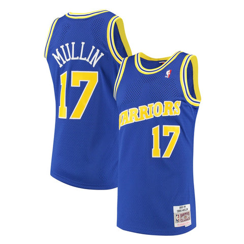 Chris Mullin Golden State Warriors NBA M&N Blue 1993-94 HC Swingman Jersey