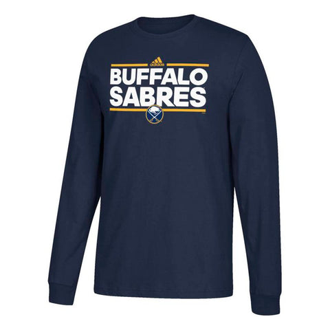 Buffalo Sabres NHL Adidas Men's Navy Blue Dassler Graphic Long Sleeve T-Shirt