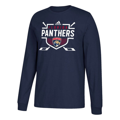 "Florida Panthers NHL Adidas Men's Navy Blue ""Instinctive"" Team Graphic T-Shirt"