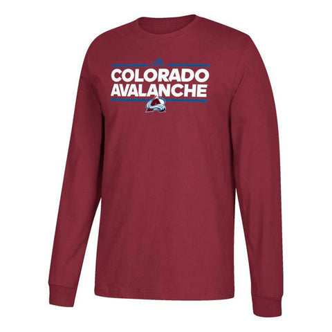 Colorado Avalanche NHL Adidas Men's Burgundy Dassler Graphic Long Sleeve T-Shirt