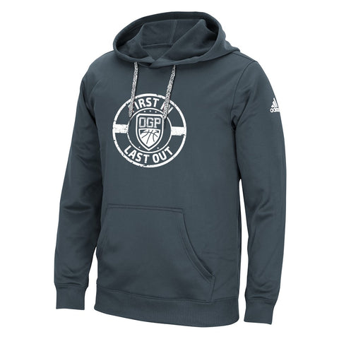 "Adidas Men's Onix Grey ""First In Last Out"" Pullover Hoodie"